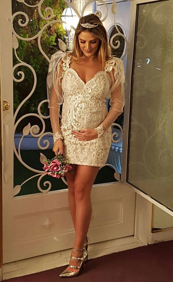 Rafa Brites e o vestido de noiva (Foto: Reprodução)