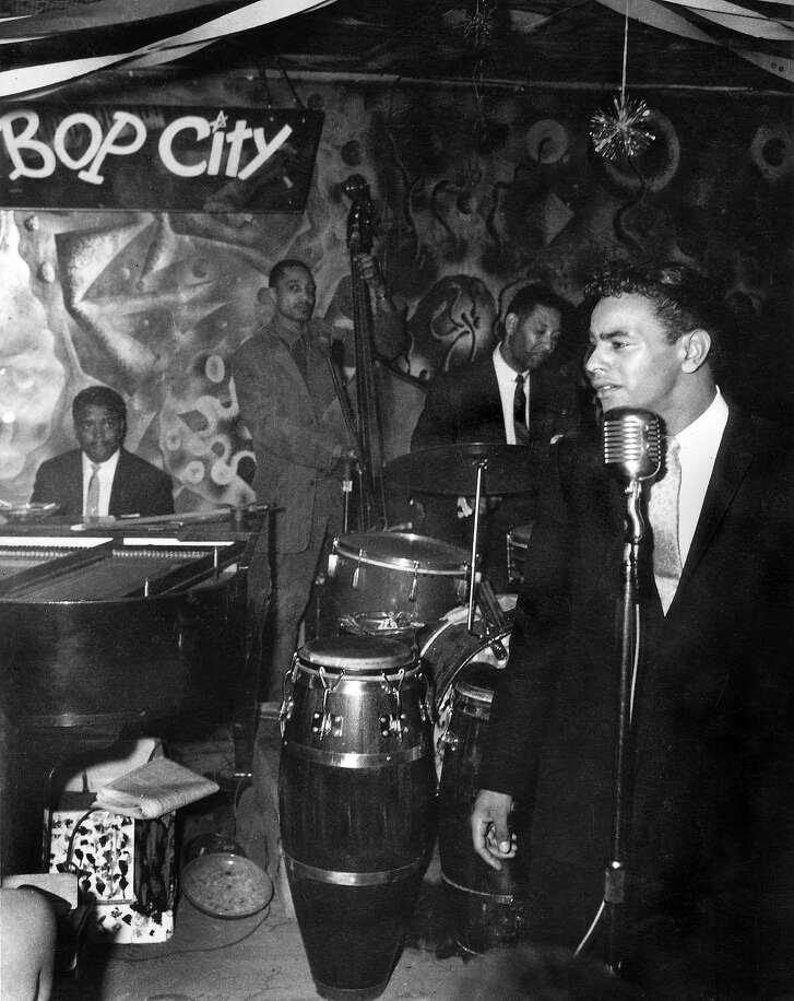 Johnnie Mathis at JimboÕs Bop City Late 1950s. This image by Steve Jackson Jr. is from  the book Harlem of the West, The San Francisco Fillmore Jazz Era, 2006 Chronicle Books by Elizabeth Pepin and Lewis Watts.