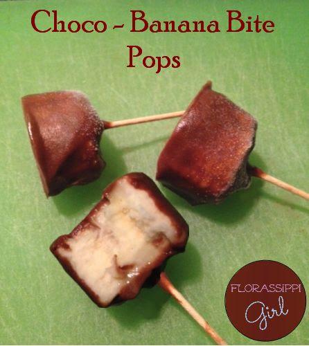 Choco-Banana Bite Pops