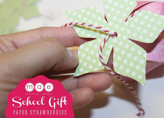 Paper Strawberries - School gift4