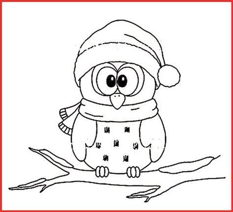 ausmalbilder weihnachten eule - kostenlose malvorlagen ideen