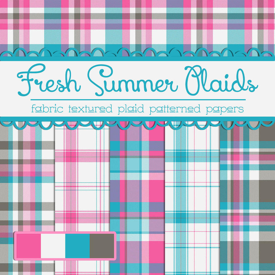 Free Fresh Summer Plaids by TeacherYanie