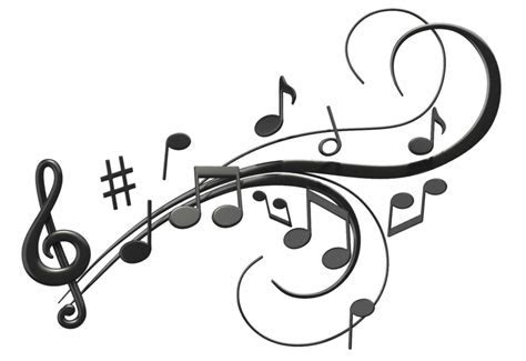 Music Notes clipart music key   Pencil and in color music