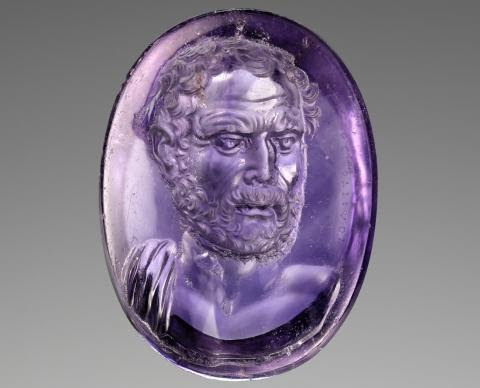 Intaglio with Bust of Demosthenes=