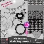 Kit Starters Grab Bag Hearts 2 CU Templates