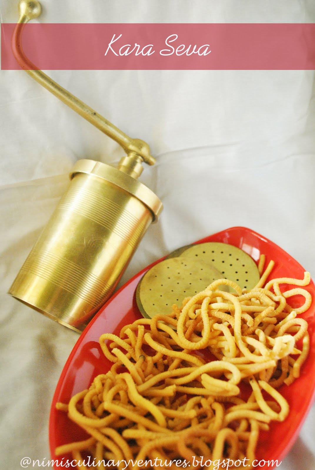 KARA SEVA the crispy noodles!   Nimi's Culinary Ventures