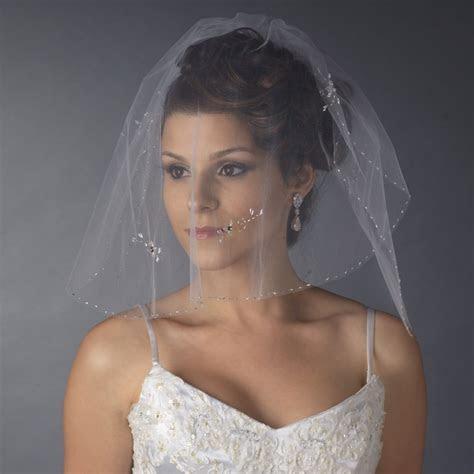 Bridal Wedding Double Layer Shoulder Length Veil 598
