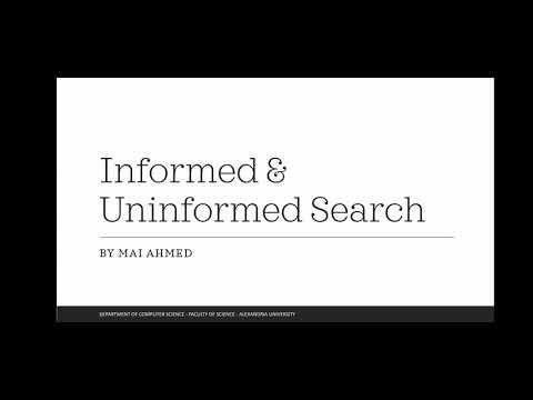 شرح Informed & Uninformed search algorithms in AI