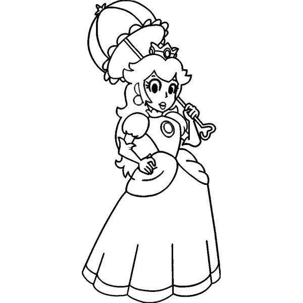 Disegno Di La Principessa Peach Da Colorare Per Bambini