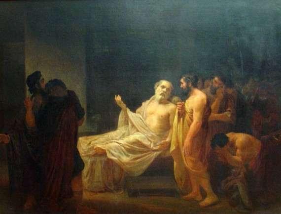 José Maria de Medeiros - Death of Socrates (1878)