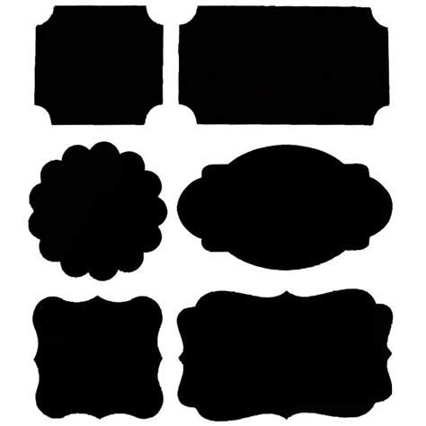 24 Assorted Adhesive Blackboard Labels   Pipii