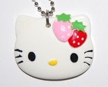 HUGE Hello Kitty with Strawberry Necklace