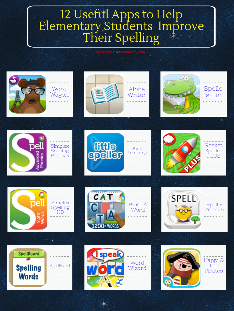 12 Useful Apps to Help Elementary Students  Improve Their Spelling