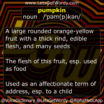 Pumpkin 10/23/2012 GFX Definition of the Day