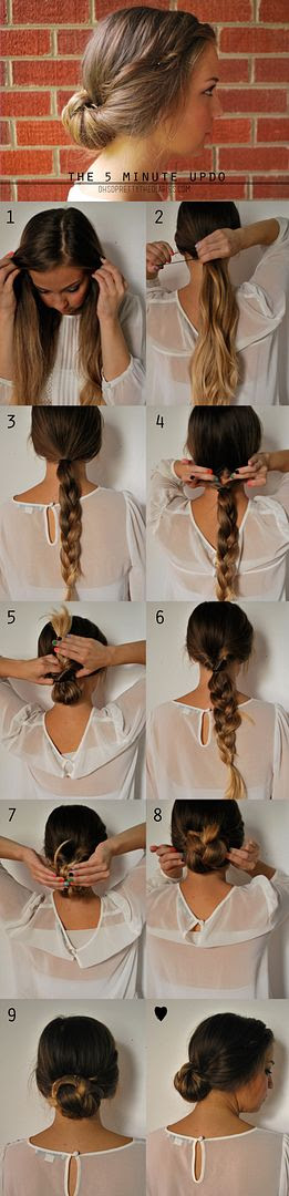 The 5 Minute Updo Braided Gibson Tuck