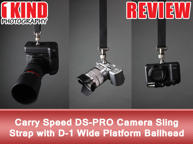 Carry Speed DS-PRO Camera Sling Strap with D-1 Wide Platform Ballhead