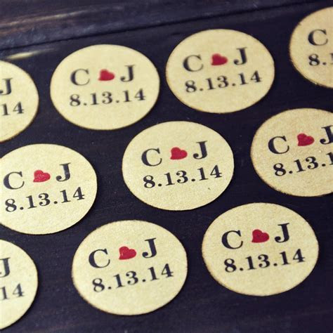 Personalized Wedding Favors, Envelope Seals Stickers
