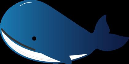 クジラのイラスト夏イラスト無料暑中見舞い素材