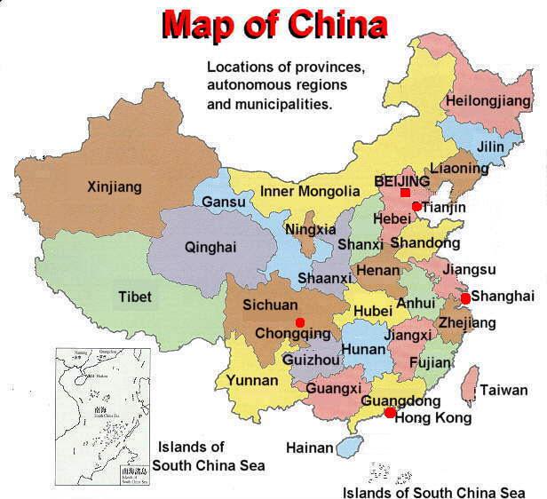 Αποτέλεσμα εικόνας για CHINA MAP