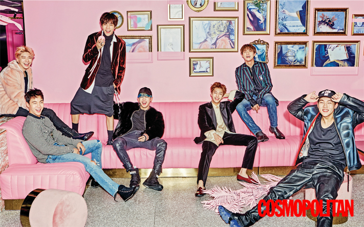 Monsta X - Cosmopolitan Magazine January Issue '17