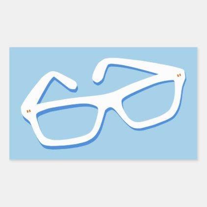 Cool Nerd Glasses Rectangular Sticker
