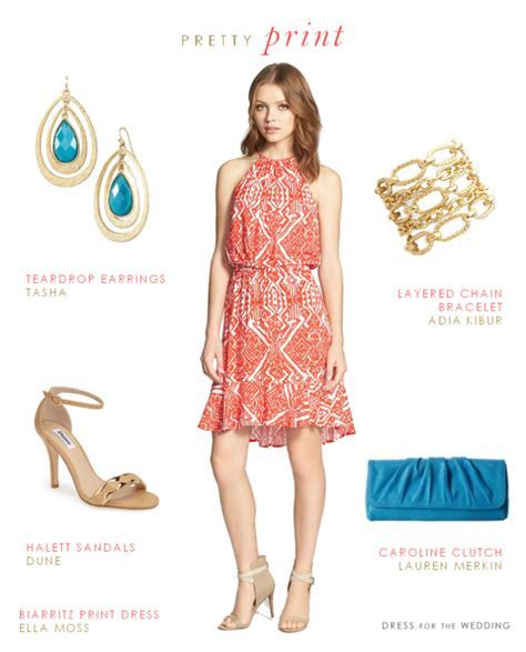 Printed Dresses for Summer Wedding Guests   Wardrobe
