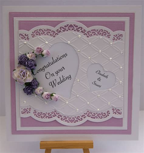 Die cut wedding card   stampin up