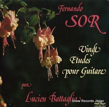 BATTAGLIA, LUCIEN sor, dernando; vingt etudes pour guitare