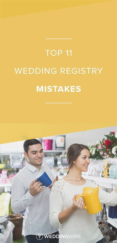 Top 11 Wedding Registry Mistakes   Learn the top registry
