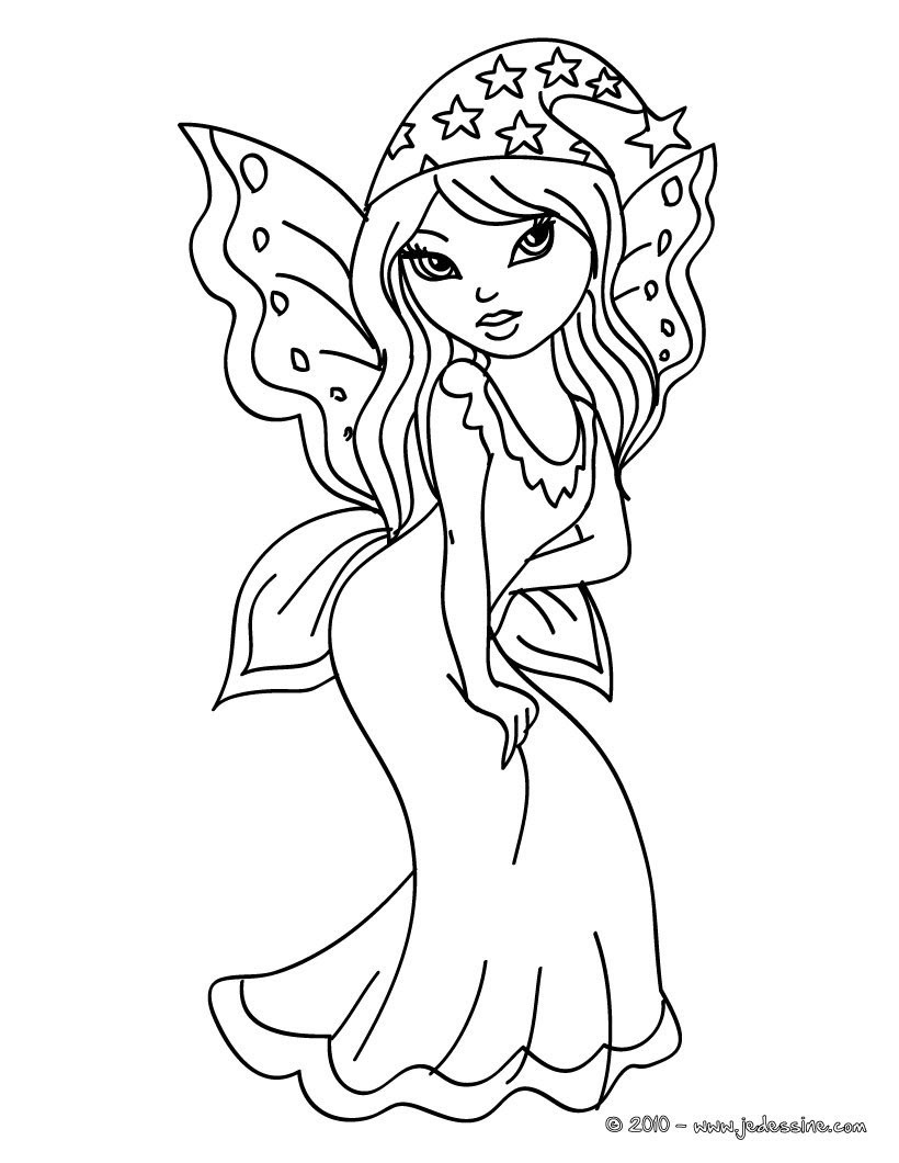 FEE KAWAII   colorier Coloriage d une FEE KAWAII