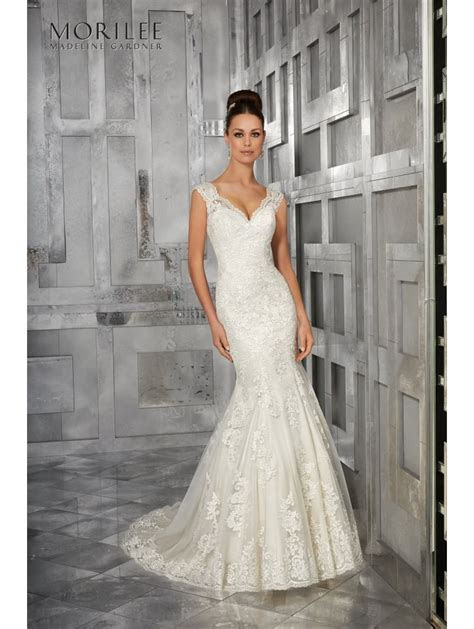 Mori Lee 5562 MONET Soft Fit And Flare Ivory Wedding Dress