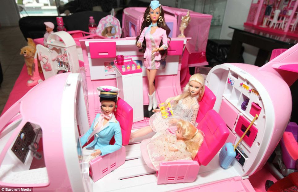 The Fly Time Barbie set is among the collector's items as well as her friends and pets