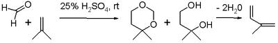 Scheme 3. Isoprene Prins reaction