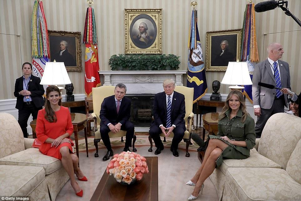 Trump estava programado para se reunir com Macri durante a manhã e início da tarde para discutir uma série de questões bilaterais