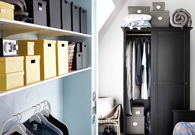 cajas para ordenar dormitorio ikea