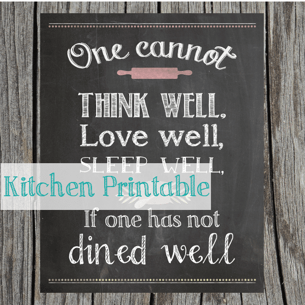 kitchen chalkboard printable