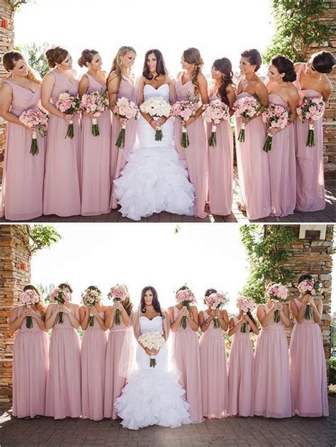 Beautiful but simple idea for the #bridesmaids, light pink