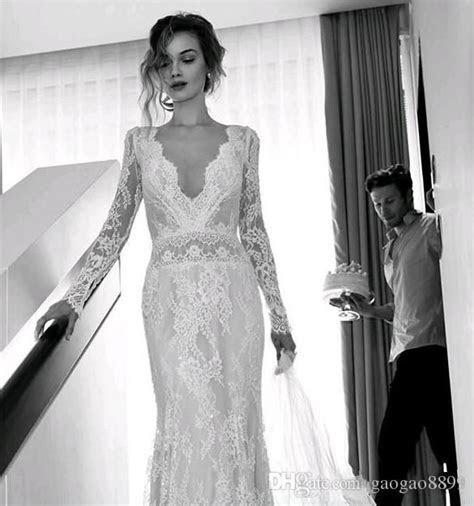 Hot Sale Lihi Hod Bohemian Beach Wedding Dresses Full Lace