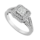 15 Ideas of White Gold Diamond Cut Wedding Rings