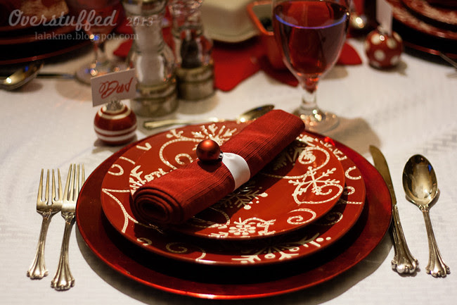 Christmas Eve Dinner Place Setting