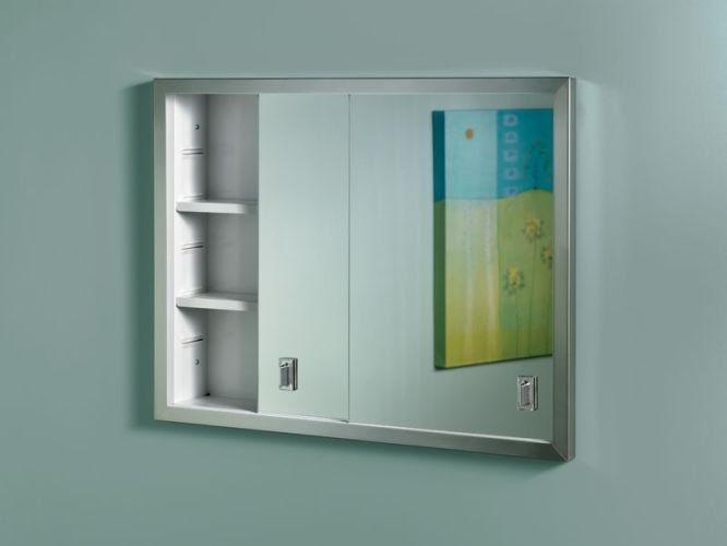 NuTone B703850 N/A Sliding Door Recessed Medicine Cabinet ...
