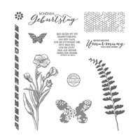 Schmetterlingsgruß Photopolymer Stamp Set (German) by Stampin' Up!