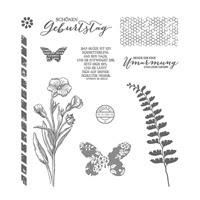 Schmetterlingsgruß Photopolymer Stamp Set (German) by Stampin' Up!