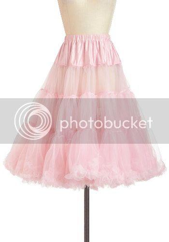 vintage style pink petticoat