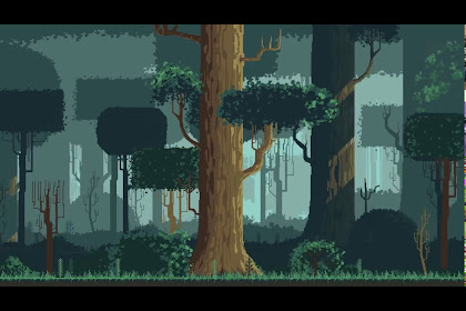 Simple Pixel Art Background