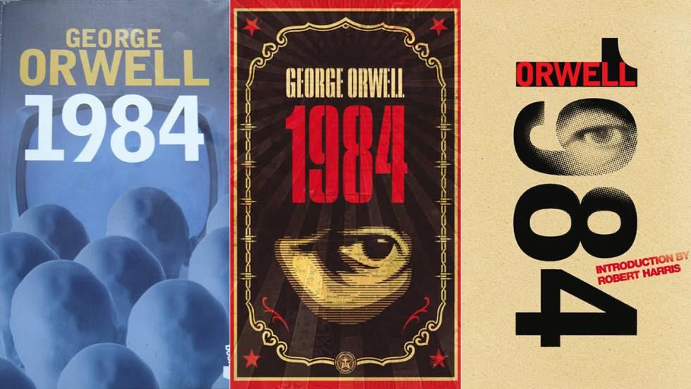Cubiertas de distintas ediciones de la novela '1984', de George Orwell.