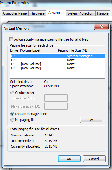 virtual memory page file delete