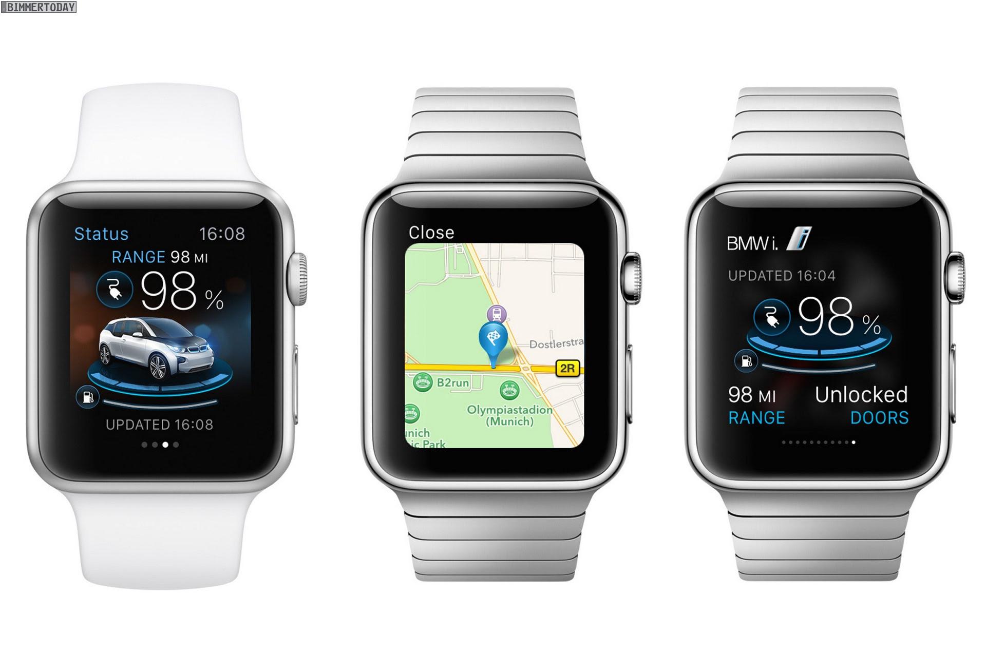 Apple Watch: BMW i Remote App bereits verf\u00fcgbar