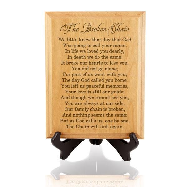 The Broken Chain Wooden Plaque
