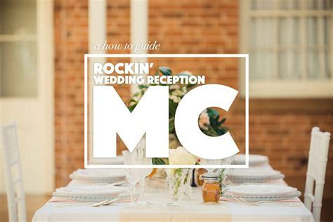 How to be a wedding reception MC   Master of Ceremonies